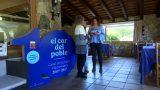 """El cartell """"El cor del poble"""", commemoratiu del 10è. aniversari del Casal de Cultura de Vallromanes, viatja per diferents espais"""