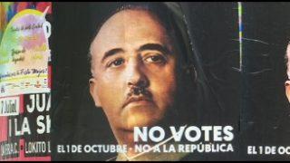 Apareixen a Mollet cartells del dictador Francisco Franco que conviden a no votar l'1 d'octubre