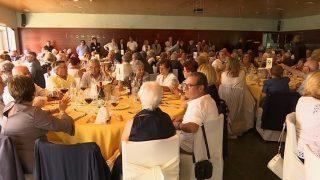 200 vallromanins participen al Dinar de Gent Gran de Festa Major