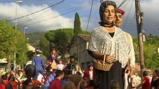 La colla gegantera de Martorelles participa un any més en la Festa Major