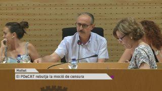 El PDeCAT rebutja la moció de censura