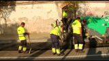 Obres a l'avinguda Catalunya de Parets