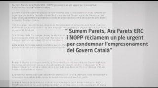 Sumem Parets, Ara Parets ERC i NOPP demanen un ple urgent per condemnar l'empresonament dels membres cessats del govern català