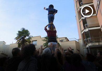Els Castellers de Mollet fan l'últim assaig abans de la diada de Festa Major